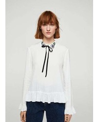 Beads bow blouse medium 6446551
