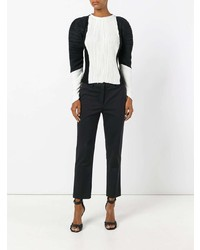 Haider Ackermann Puffer Sleeves Pleated Blouse