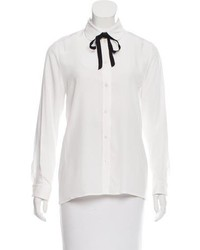 Gucci Silk Button Up Blouse