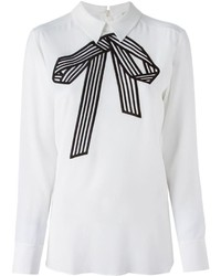 Stella McCartney Bow Print Blouse