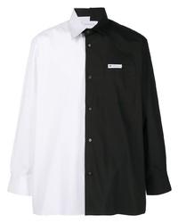 Xander Zhou Colour Block Cotton Shirt