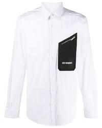 Les Hommes Logo Patch Button Up Shirt