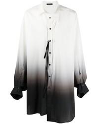 Ann Demeulemeester Ombr Asymmetrical Shirt