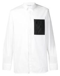 Neil Barrett Patch Slim Fit Shirt