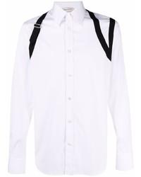 Alexander McQueen Strap Detail Button Up Shirt