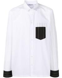 Neil Barrett Striped Panel Long Sleeve Shirt