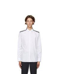 Neil Barrett White And Black Stripe Travel Shirt