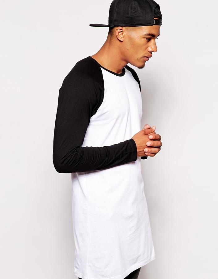 Asos ASOS BRAND ASOS Super Longline Long Sleeve T-shirt With ...