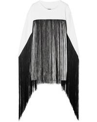 MM6 MAISON MARGIELA Fringed French Cotton Terry Sweatshirt