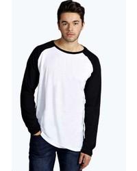 Boohoo Raglan Sleeve Longline T Shirt