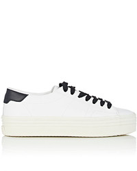 Saint Laurent Court Classic Leather Platform Sneakers