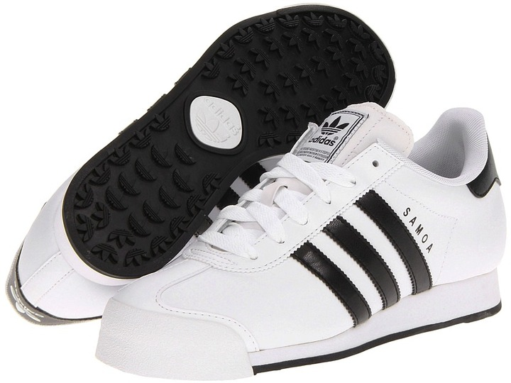 38f88865ace5f2 ... White and Black Low Top Sneakers adidas Originals Samoa W ...