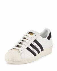 Superstar 80s classic snake cut sneaker whiteblack medium 1213444