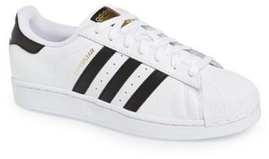 tenis adidas superstar blancos con negro