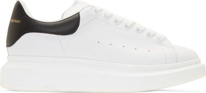 Alexander McQueen White Black Leather