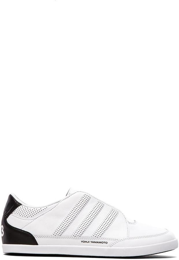 c690a5ae6e302 ... White and Black Low Top Sneakers Yohji Yamamoto Y 3 Honja Low Classic Ii  ...