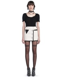 Alexander Wang Mini Wrap Skirt With Triangle Pocket