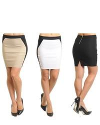 Stanzino Colorblock Mini Skirt