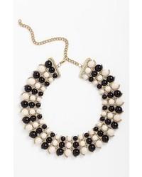 Guinevere Macion Necklace Black White