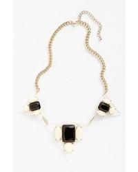 Panacea Pyramid Necklace Black White