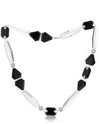 Ivanka Trump Soho Bead White Gold Mixed Cut Stone And Pearl Necklace