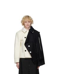 Maison Margiela Off White And Black Melton Cloth Jacket