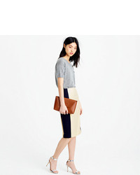 Super Colorblock Pencil Skirt In 120s Wool