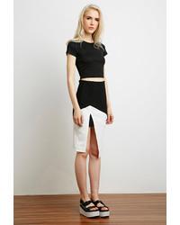 Forever 21 Contrast Mesh Pencil Skirt