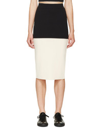 Rag and Bone Rag Bone Black Ivory Regina Pencil Skirt