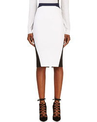 Altuzarra White Black Colorblocked Phoenix Pencil Skirt