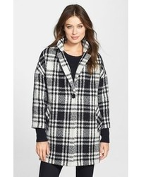 London plaid single breasted coat medium 110938