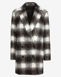 Theory Plaid Mid Length Coat