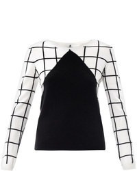 Meets patter meets patternity window pane check sweater medium 71594