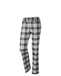 White and Black Plaid Dress Pants for Women | Women's Fashion