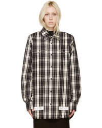 Off-White Black White Flannel Check Shirt