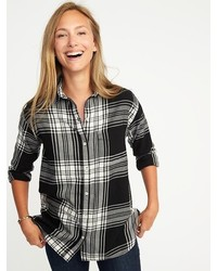 Old Navy Boyfriend Plaid Flannel Shirt For