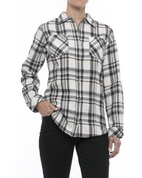 Tallwoods Cotton Plaid Flannel Shirt Long Sleeve