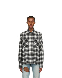 Off-White Black And White Flannel Check Arrows Shirt
