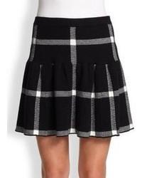 Alice + Olivia Kimbra Plaid Yoke Skirt