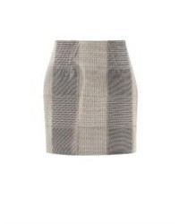Alexander Wang Liquid Check Neoprene Skirt