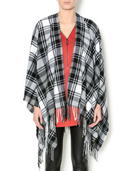 Plaid fringe poncho medium 353903