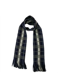 Luxury Divas Masculine Plaid Scarf W Fringe