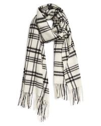 AllSaints Plaid Wool Blanket Scarf