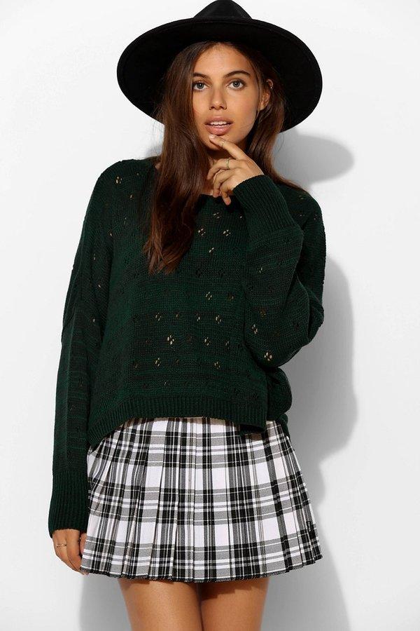 928278451ff ... Tripp Nyc Pleated Plaid Micro Mini Skirt ...