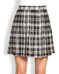 White and Black Plaid Skirts for Women | Women's Fashion