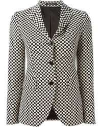White and Black Polka Dot Blazer