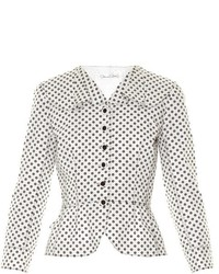Daisy polka dot print jacket medium 541953