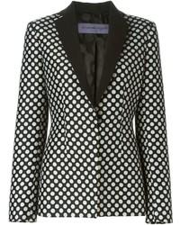 Emanuel polka dot fitted blazer medium 348964