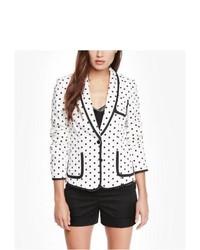 Express 22 Inch Polka Dot Cotton Sateen Jacket White 8