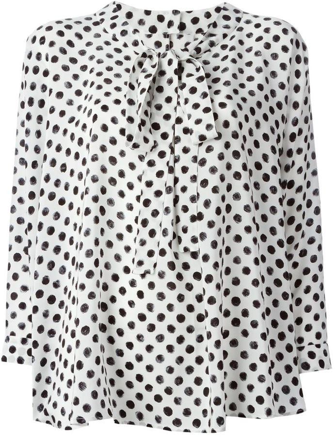 4b6932a5 Dolce & Gabbana Pussy Bow Polka Dot Blouse, $582   farfetch.com ...